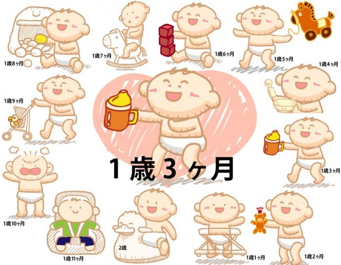 1歳3ヶ月赤ちゃんの成長と育児で知っておきたいこと