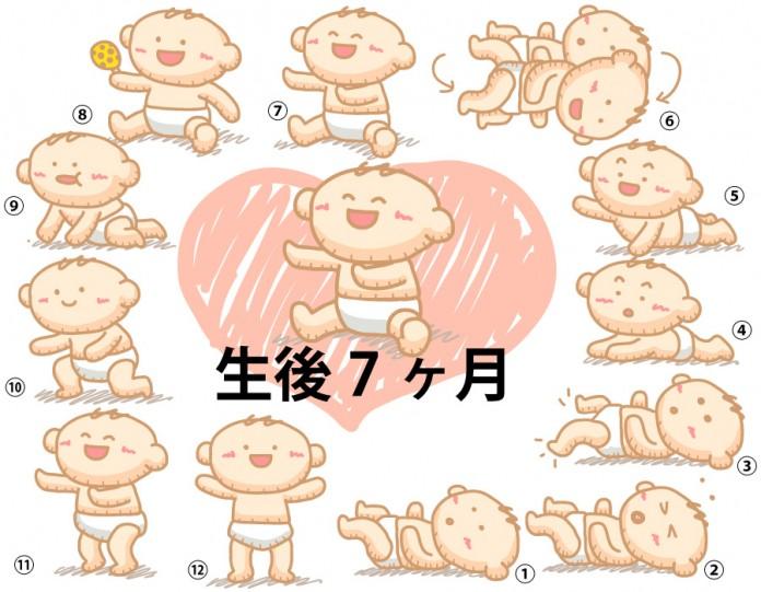 生後7ヶ月赤ちゃんの成長と育児で知っておきたいこと