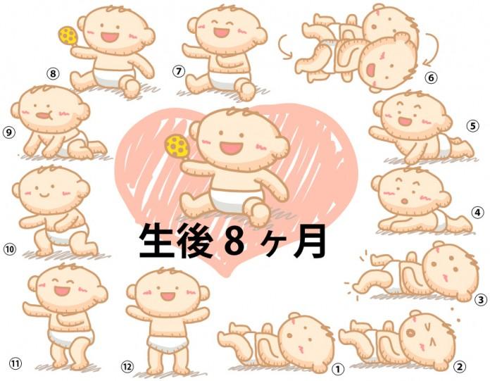 生後8ヶ月赤ちゃんの成長と育児で知っておきたいこと