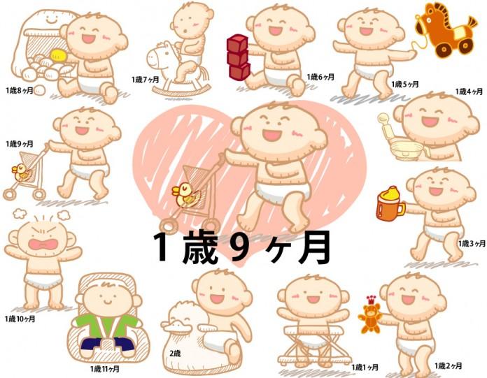 1歳9ヶ月赤ちゃんの成長と育児で知っておきたいこと