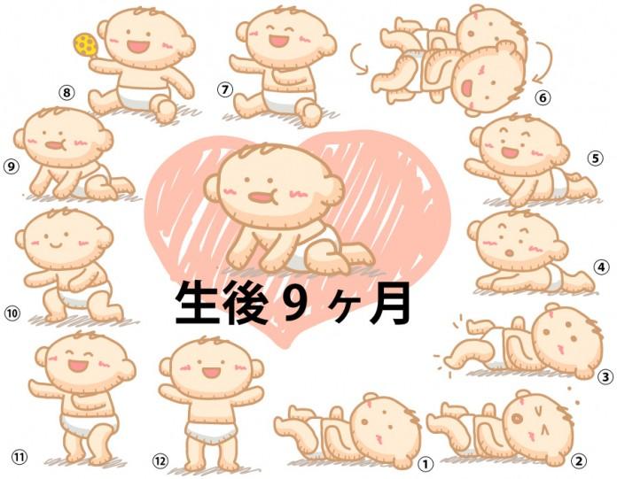 生後9ヶ月赤ちゃんの成長と育児で知っておきたいこと