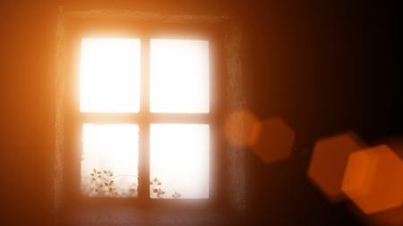 日差し暑い部屋
