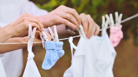 赤ちゃんの洋服の干し方のコツは?