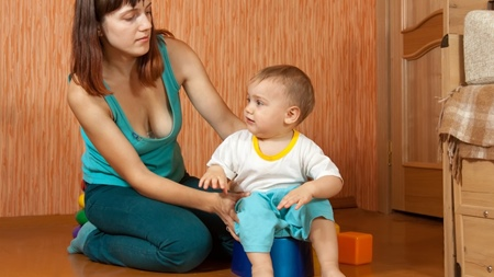早い時期に赤ちゃんの排泄が自立すること