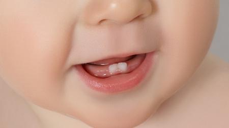 赤ちゃんの歯が当たっていたい