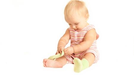 赤ちゃんの靴下が脱げるときの対策