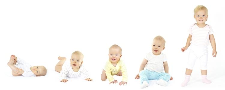 赤ちゃんの身体機能の発達順序