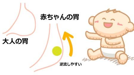 赤ちゃんの胃の状態