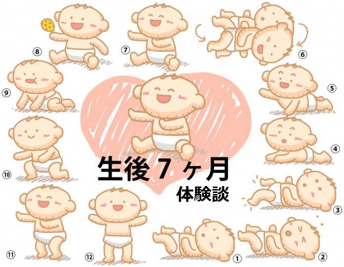 生後7ヶ月赤ちゃんの成長と育児の体験談
