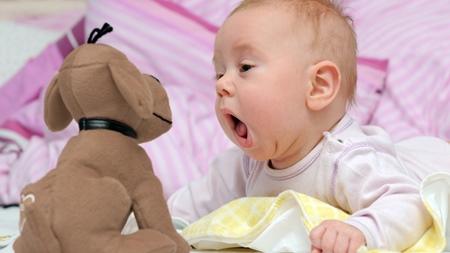 生後8ヶ月喃語の種類が増える仕草で意思表示