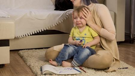 赤ちゃんの泣き入りひきつけ