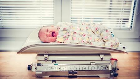 赤ちゃんの体重増加