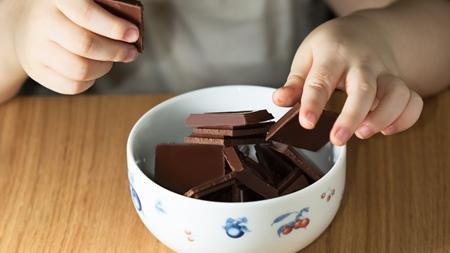 チョコレートをあげるときはほどほどに