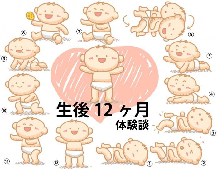 生後12ヶ月1歳赤ちゃんの成長と育児の体験談