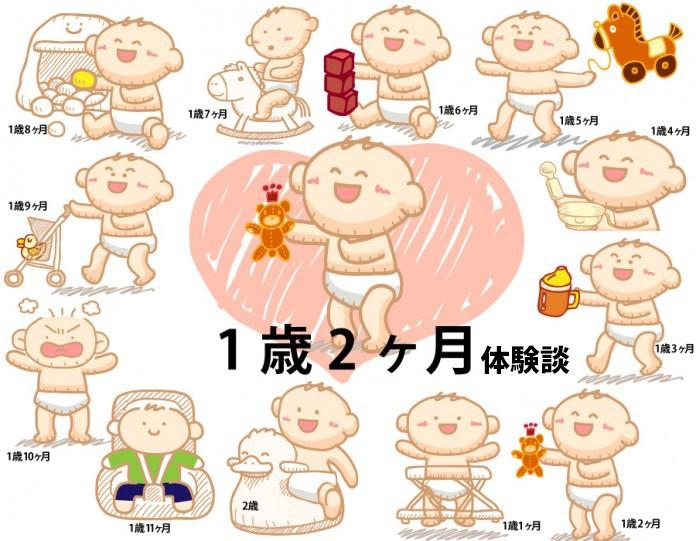 生後1歳2ヶ月赤ちゃんの成長と育児の体験談