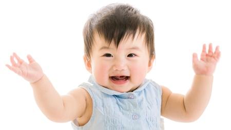 生後5、6ヶ月頃の赤ちゃんの微笑