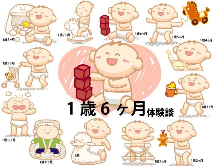 生後1歳6ヶ月赤ちゃんの成長と育児の体験談