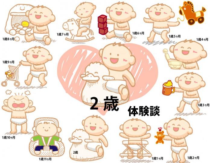 2歳~2歳11ヶ月赤ちゃんの成長と育児の体験談